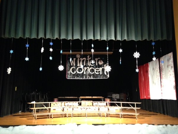 Winter Concert Stage
