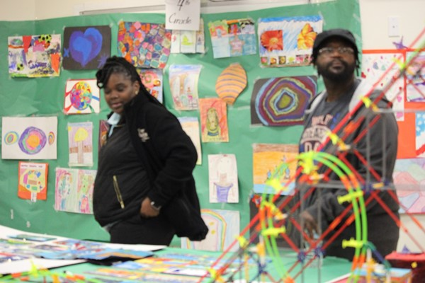 Families visit the Art Show