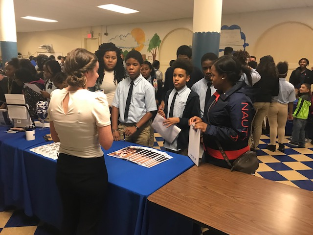 DLEACS students attend the high school fair.