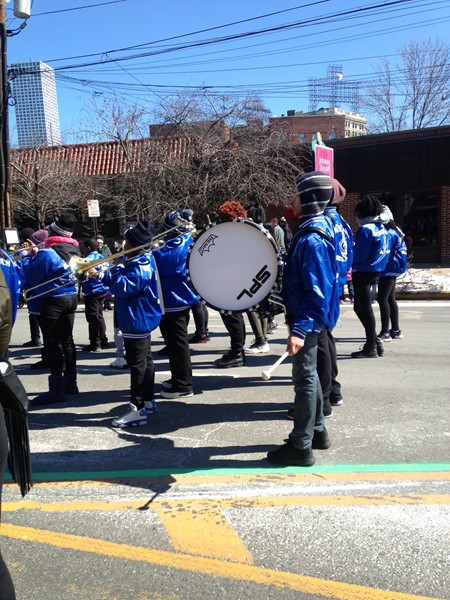 DLEACS band perform on Kennedy Blvd.