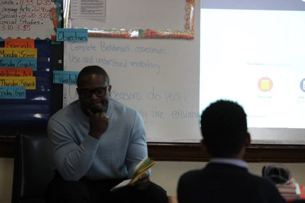 Mr. Cummings responds to questions from 5th grade students.