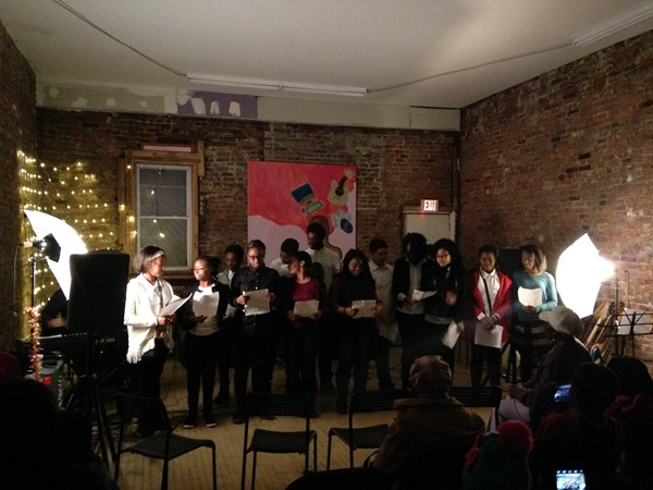 Glee Club performs at Jersey Arts Exchange