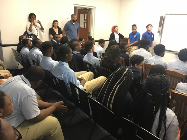 DLEACS students visit Marist High School
